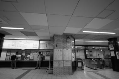 長田駅改札