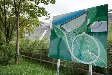 小樽市・朝里ダム案内看板