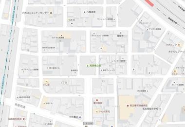 尾頭橋・八幡園地図