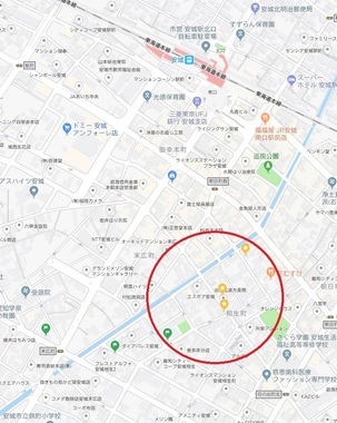 安城・陽貴園地図
