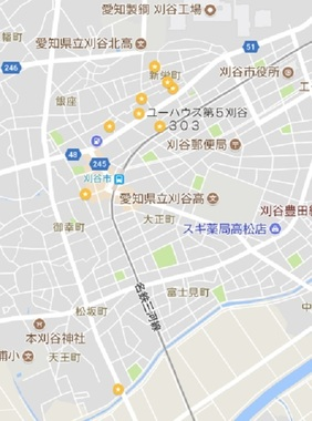 刈谷・地図