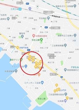 三谷・地図