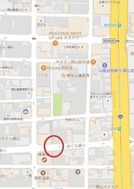 岡山・蓮昌寺地図