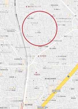 玉の井赤線跡地図