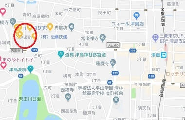 津島市池須町地図