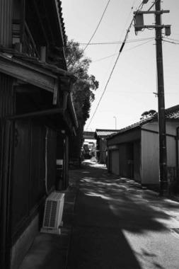 神社港の町なみ